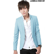 Blazer Fashion Slim Fit Fresh Sky Caballero Ainka