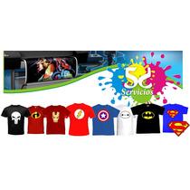 Dia Del Padre Franelas Super Heroes Batman, Flash, Superman