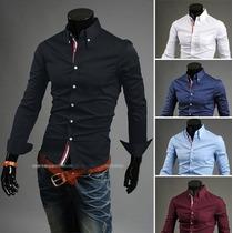 Camisas Slim Fit De Vestir Para Caballeros