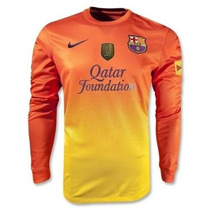 Oferta Camiseta Barcelona Manga Larga Escudo Mundial De Club