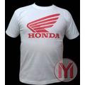 Franela Con Estampado Marca De Motos Honda