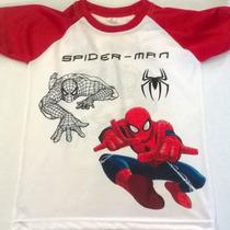 Franelas De Niños, Batman, Spiderman Y Superman