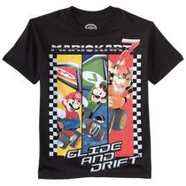 Franela Mario Bros Negra Xl Importada Original Nintendo