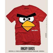 Franelas De Algodón Personalizadas Angry Birds