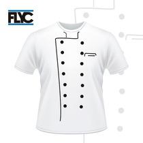Franelas Para Chef Estampadas Con Vinil Textil - Flyc