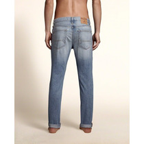 Blue Jean Pantalon Hollister Skinny 100% Original