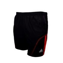 Short Running Adidas Para Caballero (negro/rojo)
