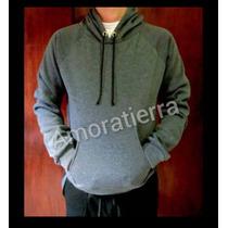 Suéter Unicolor Capucha Para Estampar Dama Caballero S,m,l