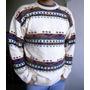 Sweater Importado Estampado. Usado.