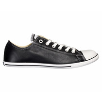 Zapatos Converse All Star Slim Negro De Cuero Originales
