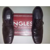 Zapato Inglese Casuales Hombre Cuero Negro 43_44