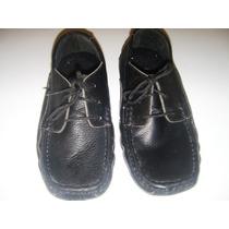 Zapato De Cuero Tipo Mocasin De Trenzas