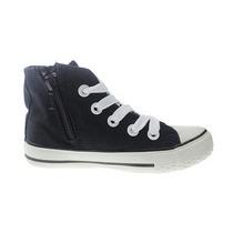 Zapatos Tipo Bota De Lona, Niña Y Niño, Nuevos !!!