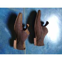 Zapatos Zara De Cuero Gamusado