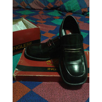 Zapatos De Vestir Original Inglese Moda Citta Talla 38 Negro