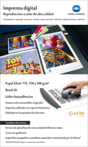 Imprenta Digital Impresion Láser Glase Litho Afiches Volante