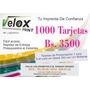 1000 Tarjetas De Presentacion Bs 3500 F/c Glasé 300gr