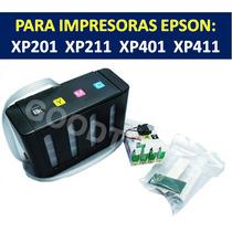 Sistema Continuo De Tinta Xp201 (full Tintas 400ml)