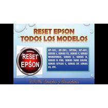 Reset Impresoras Epson -- Garantizados -- Pregunte Su Modelo