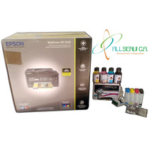 Impresora Epson Wf2540+sistema Continuo+400 Ml Tinta+cartuch