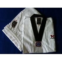 Uniforme Taekwond0(d0bok)cuello Negro Con Cinta Blanca . Mar