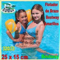 Flotador Inflable Brazo Amarillo Niños Bestway 32033 Playa P