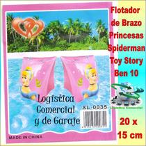 Flotador De Brazo Princesas Toy Story Ben 10 Spiderman Niños