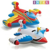 Flotador Inflable Avion Para Niños + Pistola De Agua 40 Kg