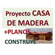 Kit Proyecto Construye Casas De Madera Cabañas. Imprimible