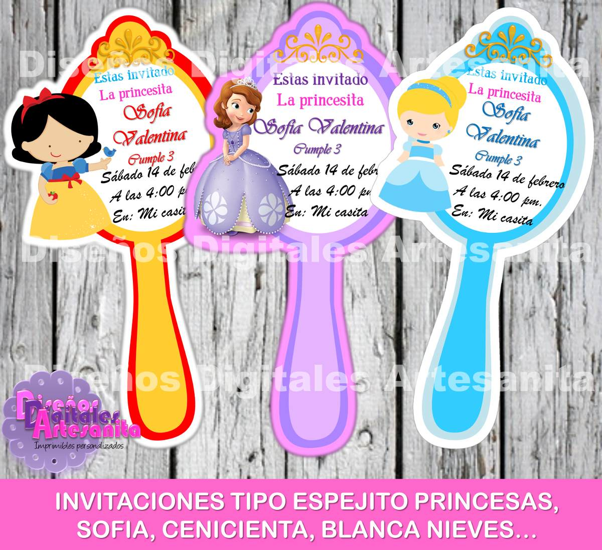 Pin Princesa Sofia Invitaciones De Cumple Anos Tattoos on Pinterest