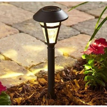 Lampara Solar Led Para Jardin 6 Unid.color Bronce Con Estaca