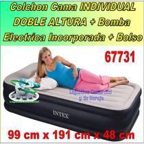 Cama Inflable Doble Altura Individual Bomba Elec Incp 66731