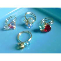 Anillos Artesanales Tecnica Alambre Tpc Piedras Cristales