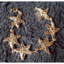 Preciosa Pulsera Baño De Rodio Y Eslabones Estrellas De Mar
