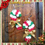Navidad. Zarcillos Baston De Caramelo. Pixel. Perler Beads.