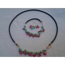 Zarcillos, Perlas, Accesorios, Regalos, Cuero, Collar