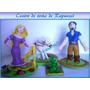 Centro De Torta De Rapunzel En Masa Flexible