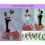 Centro De Torta De Pareja Para Matrimonios En Masa Flexible