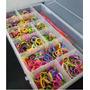 Caja Organizadora Rainbow Loom (ligas+minitelar+agujas+clip)