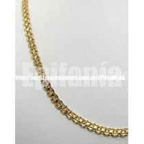 Cadena De Oro Laminado Tejido Chino 60 Cm