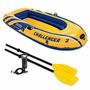 Bote Inflable Challenger 2 Con Remos Y Bomba Rio Playa Mar