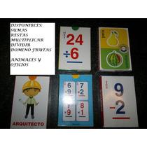 Juego Didactico Cartas Varitemas Para Niños, Matematicas