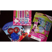 Minnie Mouse Games Bingo, Lanzador De Tazos Mickey Y Sellos