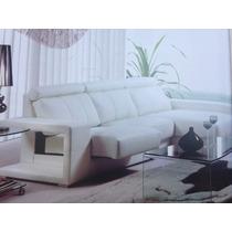 Sofa Mueble De Sala En L Autentico Cuero Incluye 3 Puf Nuevo
