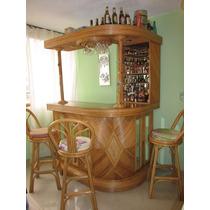 Bar De Rattan + 3 Sillas Usado En Excelente Estado!!!