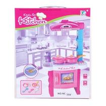 Cocina Para Niñas Mas Set Con Luces Y Sonidos Mini Cocina