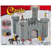 Castillo Medieval Juguete Para Niños+ Caballeros Ofertazo!