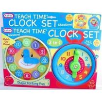 Reloj Didáctico Juguete Para Aprender La Hora