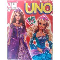 Juego De Cartas Uno De La Barbie Para Niñas