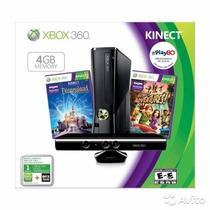 Xbox 360 Slim 4gb Kinect Bundle (2 Juegos Originales)